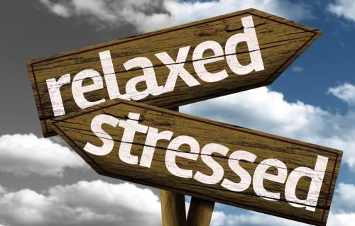 看板ストレスとリラックス