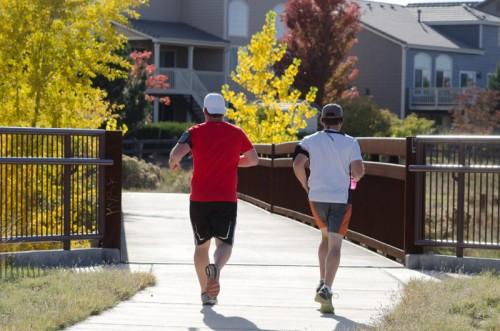 秋のジョギング